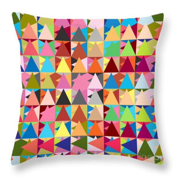 abstract of colors  Throw Pillow by Mark Ashkenazi