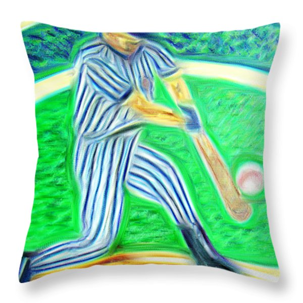 Abstract Of The Hit Throw Pillow by M and L Creations