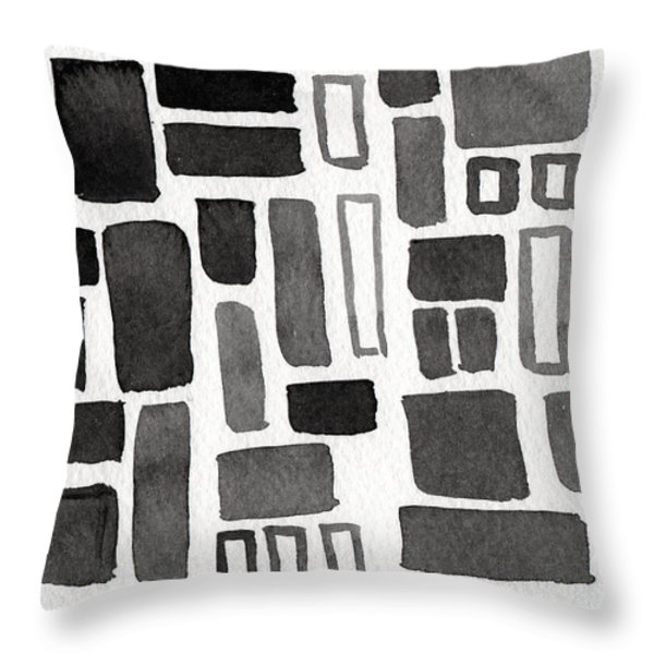 Abstract Open Windows Throw Pillow by Linda Woods