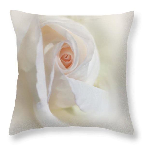 Abstract Pastel Rose Flower Throw Pillow by Jennie Marie Schell