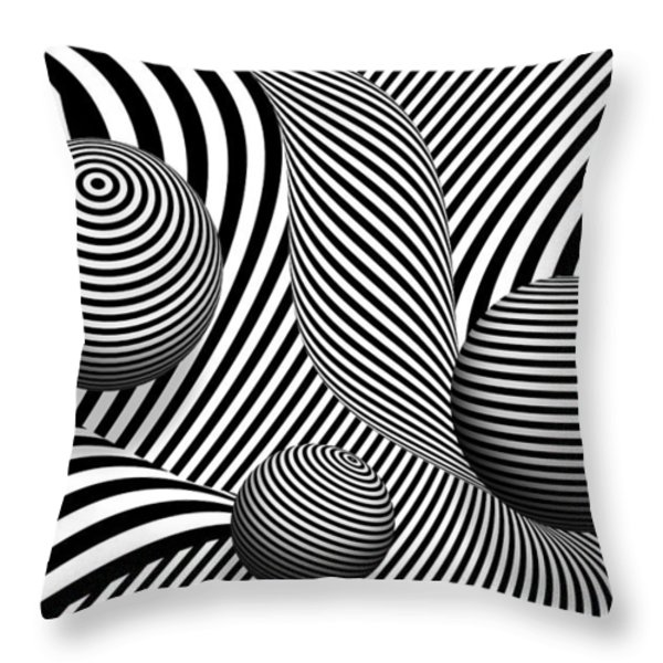 Abstract - Poke out my eyes Throw Pillow by Mike Savad