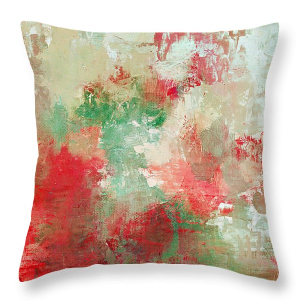Abstract Print 18 Throw Pillow by Filippo B