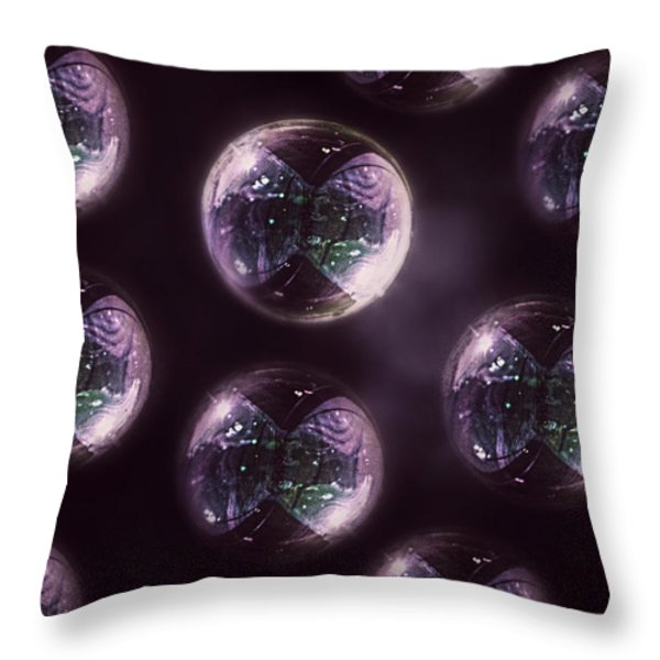 Abstract Purple Bubbles Throw Pillow by Melanie Lankford Photography