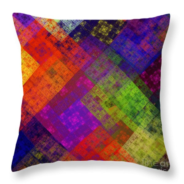 Abstract - Rainbow Infusion - Square Throw Pillow by Andee Design