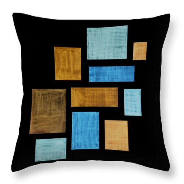 Abstract Rectangles Throw Pillow by Frank Tschakert