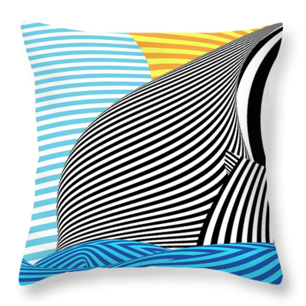 Abstract - Sailing Throw Pillow by Mike Savad