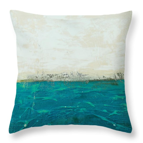 Abstract Seascape 02/14b Throw Pillow by Filippo B
