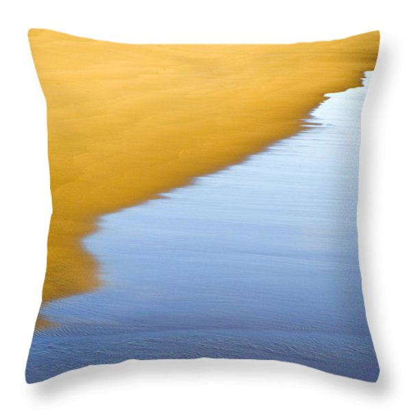 Abstract Seascape Throw Pillow by Frank Tschakert