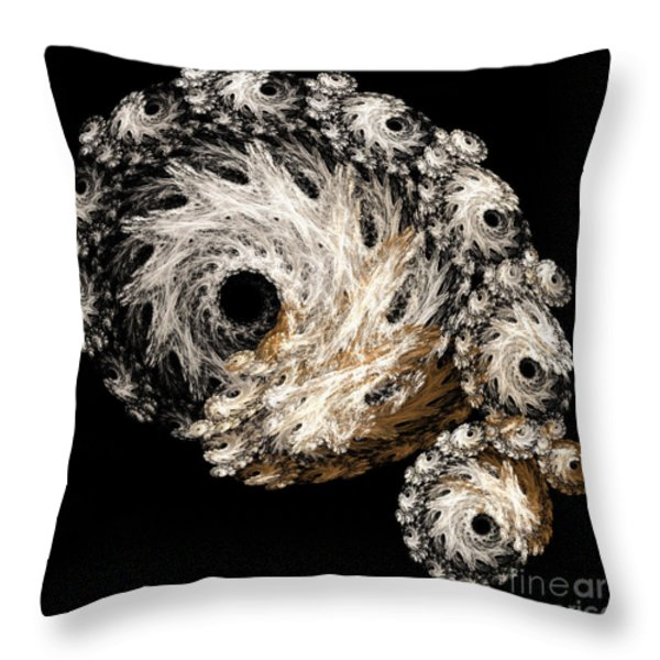 Abstract Seashell Throw Pillow by Andee Design