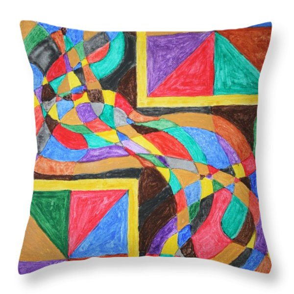 Alien By Windows Throw Pillow by Stormm Bradshaw