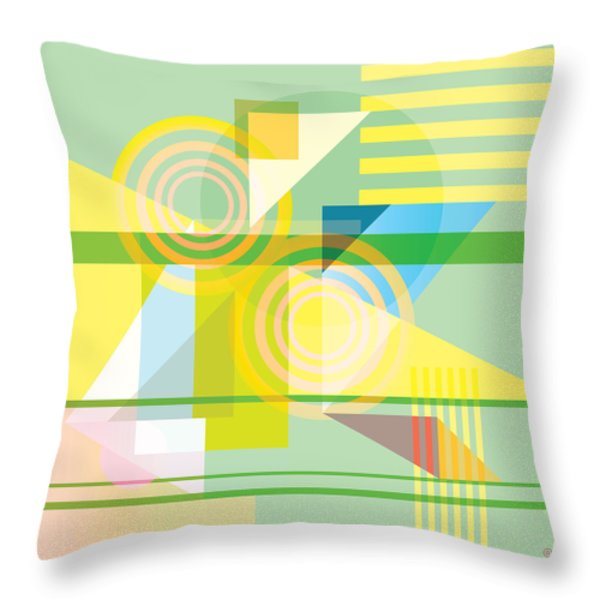 Abstract Shapes #5 Throw Pillow by Gary Grayson