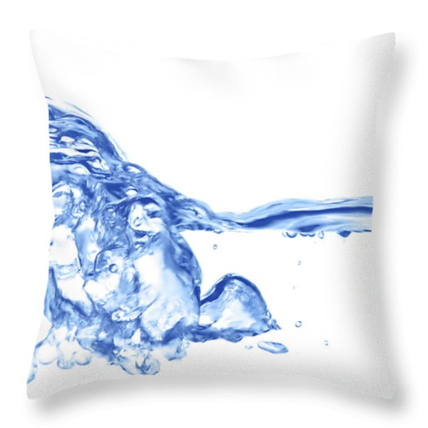 Abstract Soar Water Throw Pillow by Michal Boubin