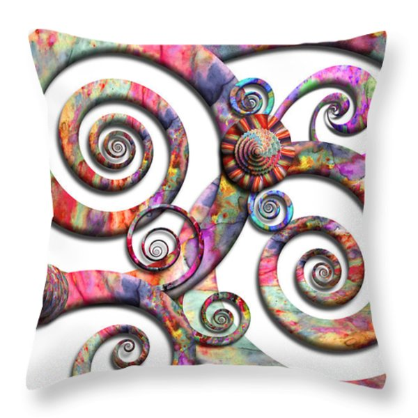 Abstract - Spirals - Wonderland Throw Pillow by Mike Savad