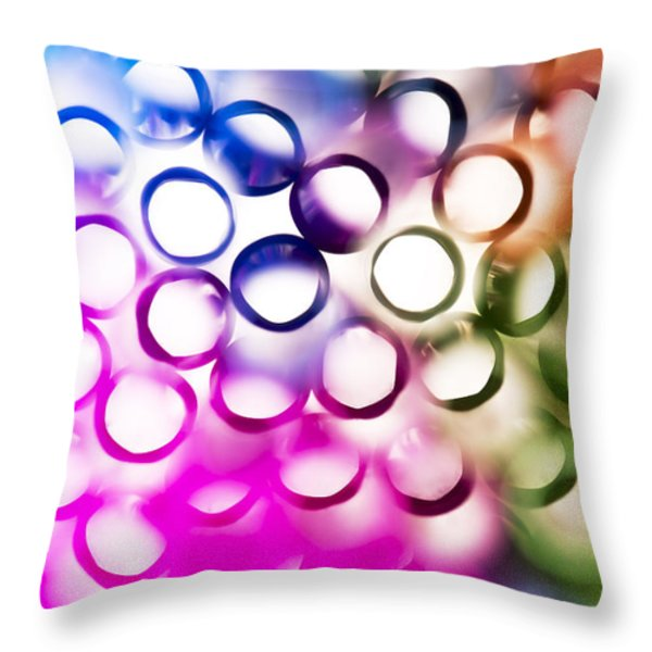 Abstract straws 2 Throw Pillow by Jane Rix