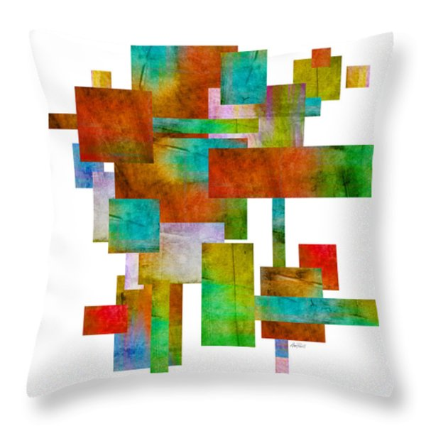 Abstract Study 21 Abstract -art Throw Pillow by Ann Powell