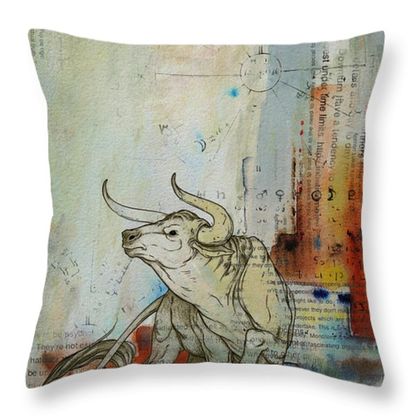 Abstract Tarot Art 017 Throw Pillow by Corporate Art Task Force