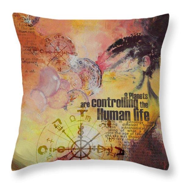 Abstract Tarot Art 023 Throw Pillow by Corporate Art Task Force