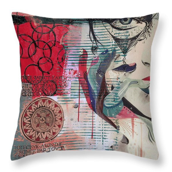 Abstract Tarot Card 008 Throw Pillow by Corporate Art Task Force