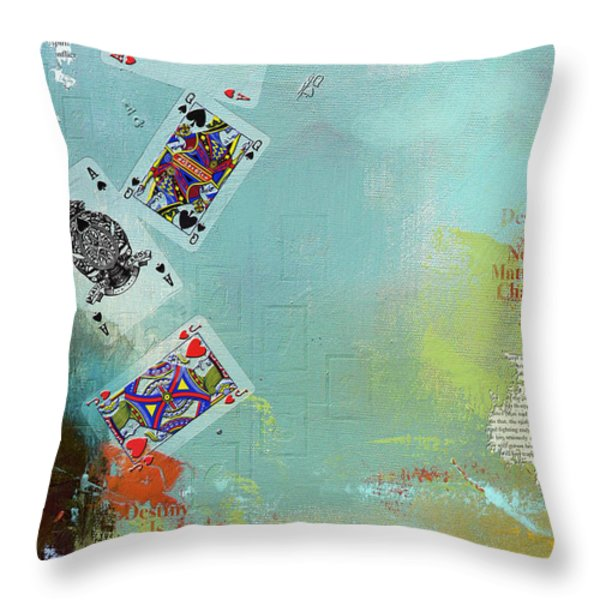 Abstract Tarot Card 009 Throw Pillow by Corporate Art Task Force