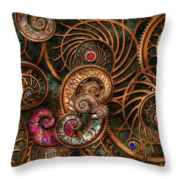 Abstract - The Wonders Of Sea Throw Pillow by Mike Savad