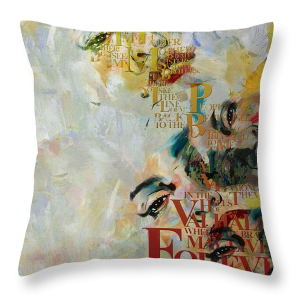 Abstract Women 018 Throw Pillow by Corporate Art Task Force