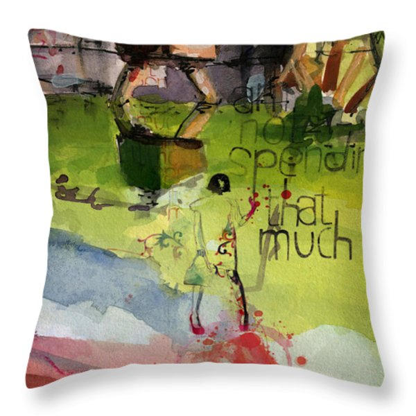 Abstract Women 023 Throw Pillow by Corporate Art Task Force