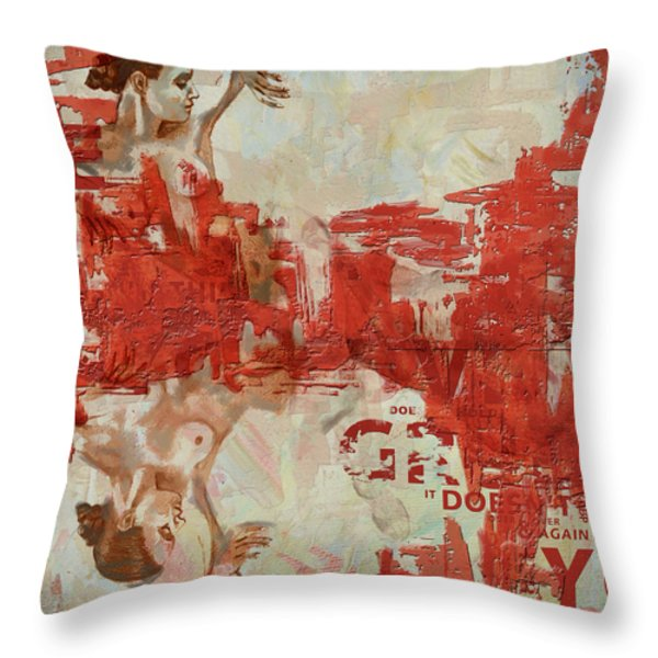 Abstract Women 20 Throw Pillow by Corporate Art Task Force