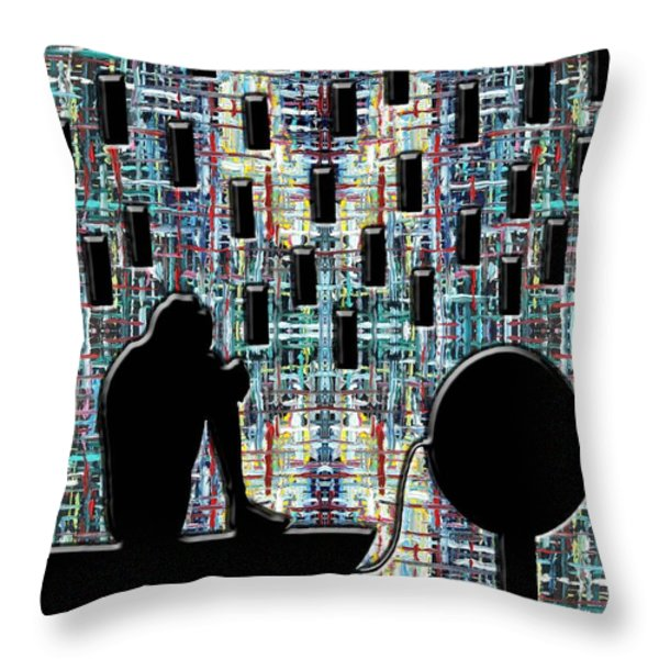 Abstraction 104 Throw Pillow by Patrick J Murphy