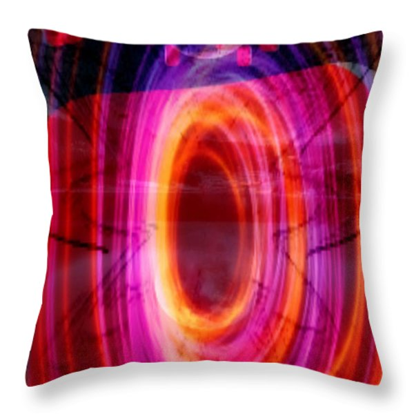 Abstraction Throw Pillow by M and L Creations