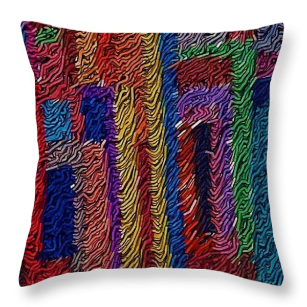 Abvstract Sevens Throw Pillow by M and L Creations Craft Boutique