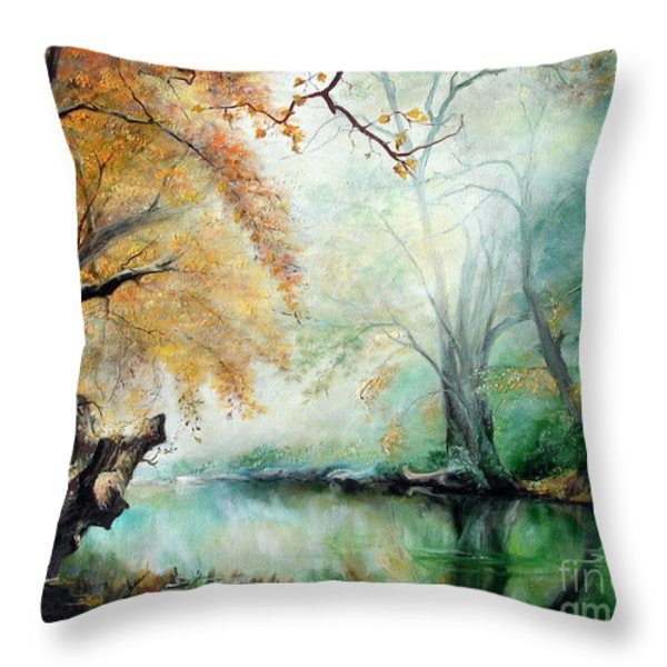 Abyss Throw Pillow by Sorin Apostolescu