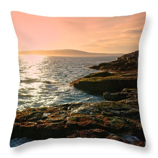 Acadia National Park Throw Pillow by Olivier Le Queinec