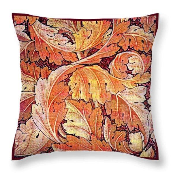 Acanthus Vine Design Throw Pillow by William Morris