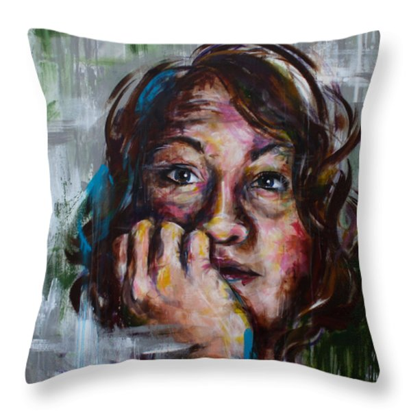 Acceptance Throw Pillow by Connie Mobley Johns