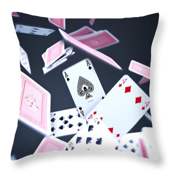 Ace of Spades Throw Pillow by Samuel Whitton
