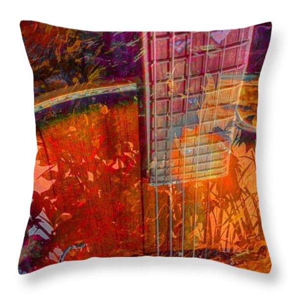 Acoustic Dreams Digital Guitar Art By Steven Langston Throw Pillow by Steven Lebron Langston