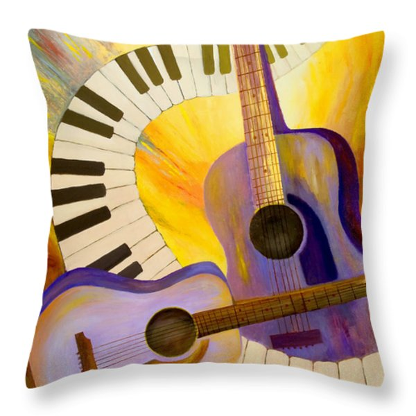 Acoustics In Space Throw Pillow by Larry Martin
