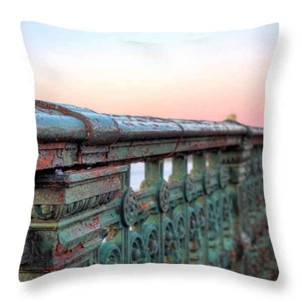 Across the Charles  Throw Pillow by JC Findley