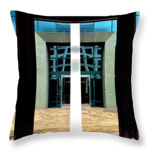 Across The Divide Throw Pillow by Randall Weidner