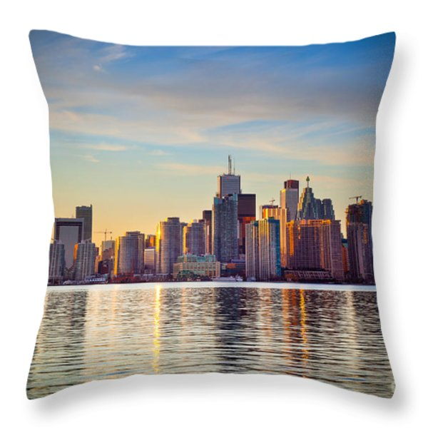 Across The Water Throw Pillow by Inge Johnsson