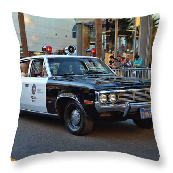 Adam 12 Throw Pillow by Tommy Anderson