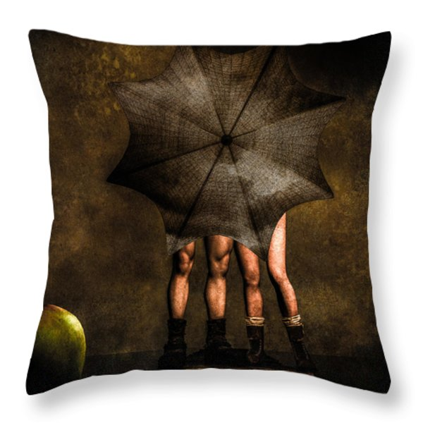 Adam And Eve Throw Pillow by Bob Orsillo