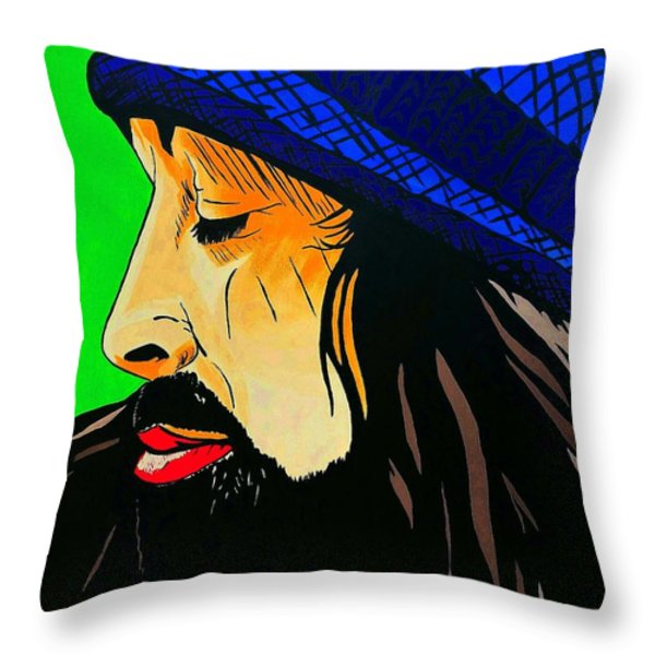 Adam Duritz Counting Crows Throw Pillow by Edward Pebworth