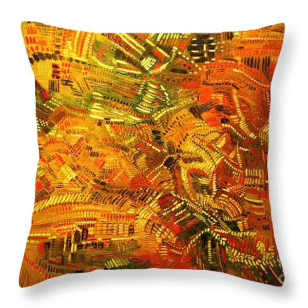 Adaptation Throw Pillow by Michael Kulick
