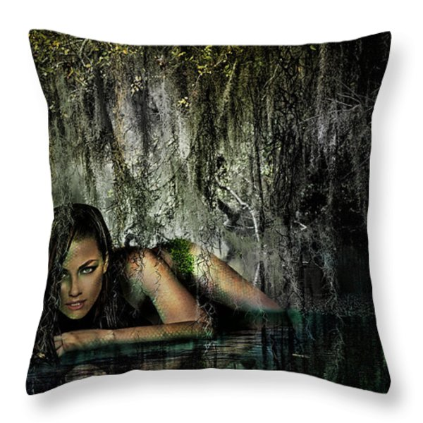Adelade Of The Lake Throw Pillow by Starlux  Productions
