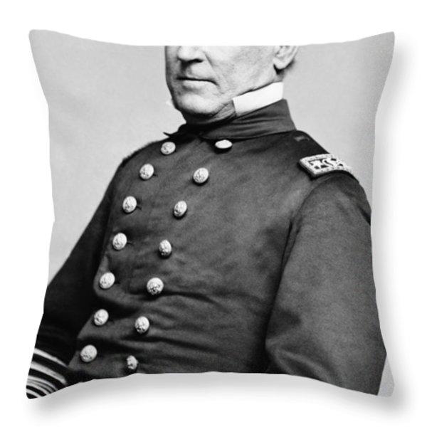 Admiral David Farragut Throw Pillow by War Is Hell Store