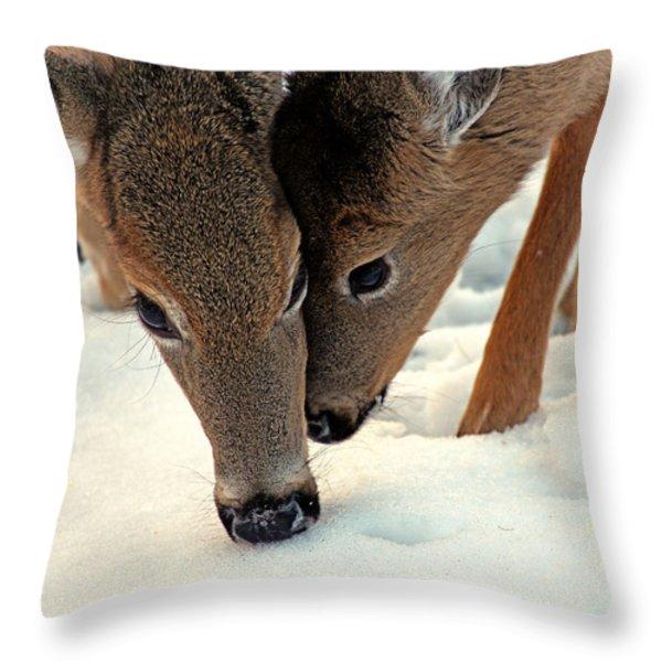 Adoring Love Throw Pillow by Karol  Livote