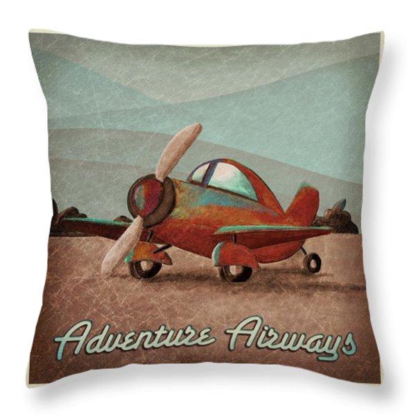 Adventure Air Throw Pillow by Cindy Thornton
