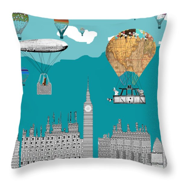Adventure Days London Throw Pillow by Bri B