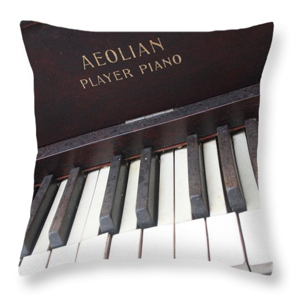 Aeolian Player Piano-3484 Throw Pillow by Gary Gingrich Galleries